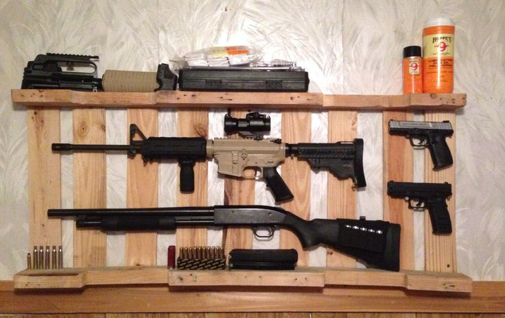 make wooden gun rack 1