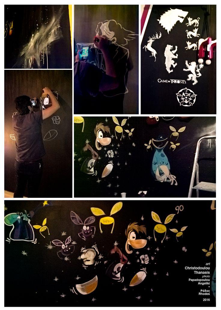 Rayman–Playroom Wall Art. #rayman #wallart #graffiti #playroom #nintendo #gameofthrones #spray