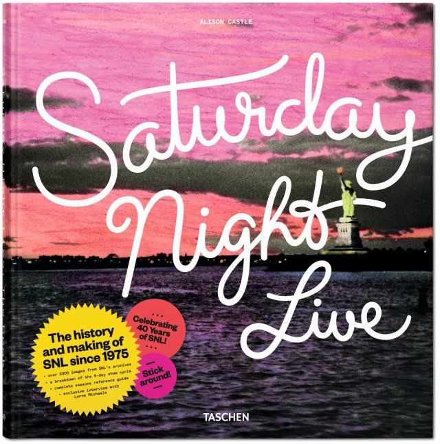 The history and making of SNL since 1975. In celebration of SNL's 40th anniversary: the complete history of the show, on stage and behind the scenes—made with full access to the SNL archives. Published by TASCHEN Books