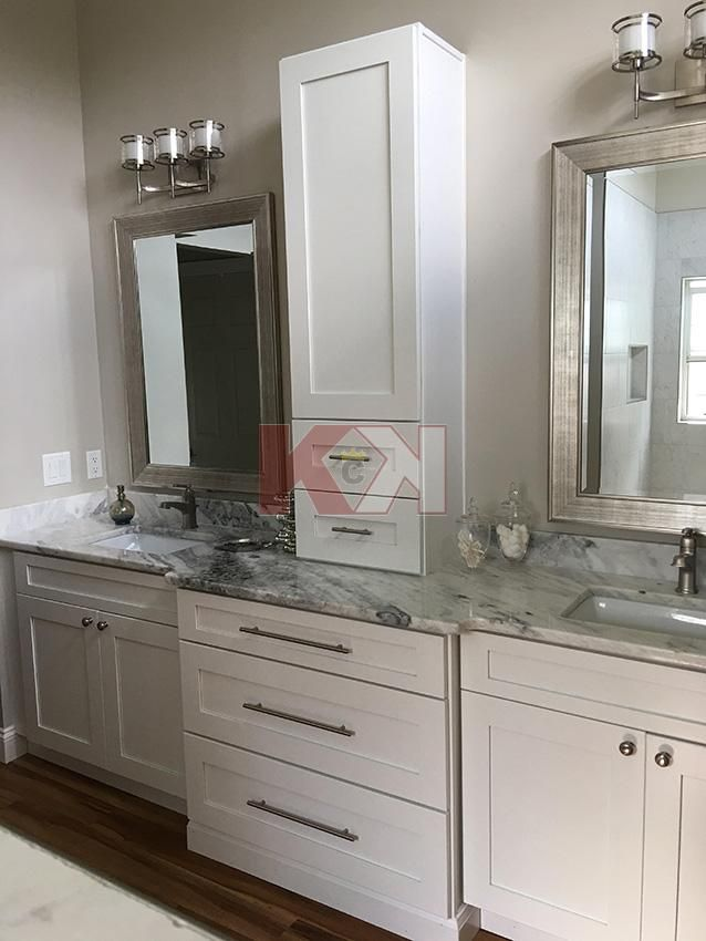 33+ Ready made white bathroom cabinets custom