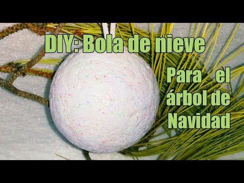 Bola de nieve para el rbol de navidad manualidades trabajos para navidad pinterest - Manualidades bolas de navidad ...