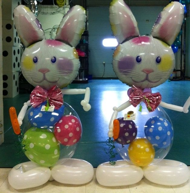 Stuffed Easter Bunny Balloons. Nice gift idea!
