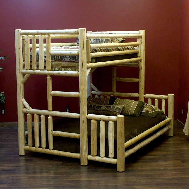 Montana Guest Retreat Gets A Fabulous Makeover For The: 28 Best Log Bunk Beds Images On Pinterest