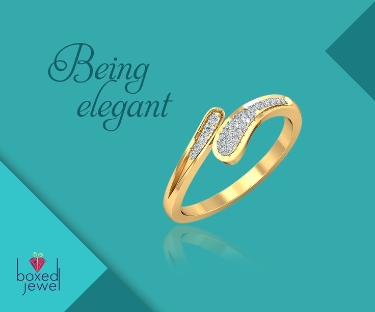 Add a tiny bling of elegance in your daily looks with the shimmering #GoldRing.   #GoldJewelery  #EverydayJewels  #Rings  #Gift