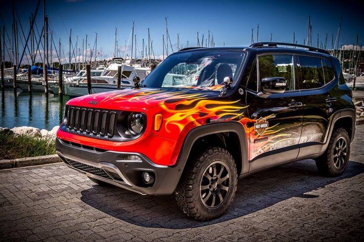 """Jak Wam się podoba Jeep Renegade """"Hell's Revenge"""" stworzony przez  Garage Italia Customs? #Jeep #JeepRenegade #HarleyDavidson"""