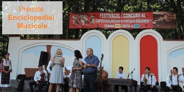 Premiile Enciclopediei Muzicale la Festivalul de la Tismana