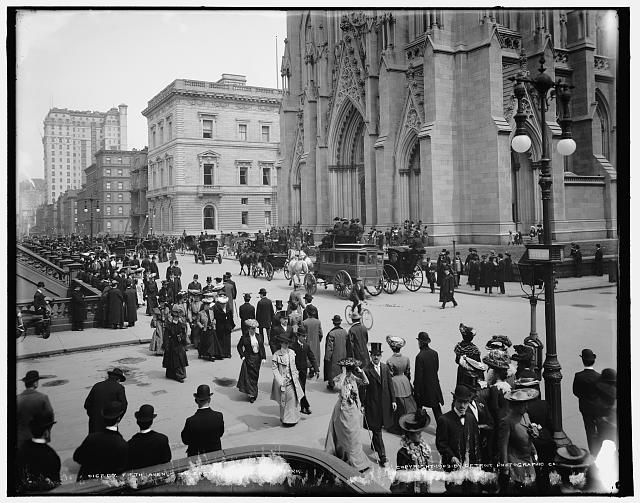 New York City (in front of St. Patrick's Cathedral) 1903: Time, Vintage, Cathedral Vibrates, Cathedrals, Front, 1903