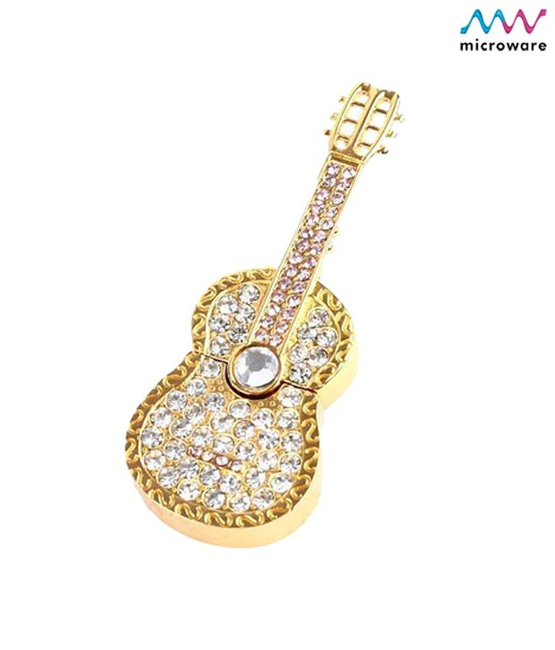 Microware Guitar Shape Golden Jewellery Designer Pen Drive 8 GB, http://www.snapdeal.com/product/MicrowareG/99373