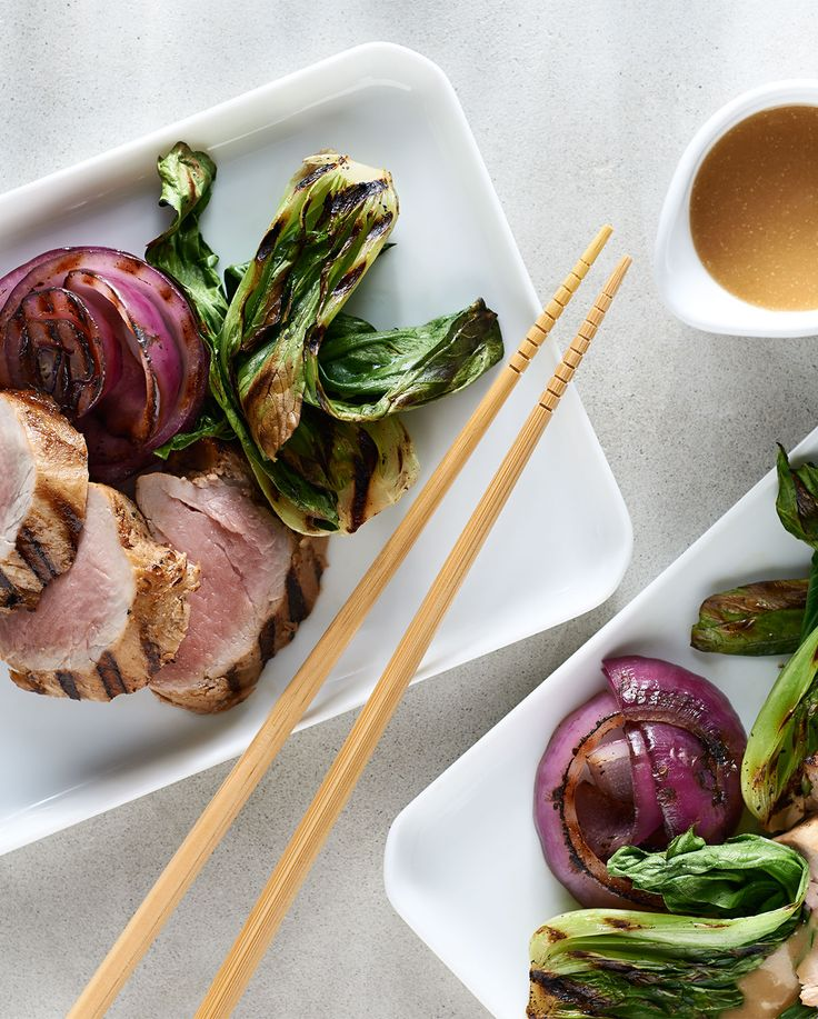 Feel like trying something a little different this weekend? Meet our Miso-Maple Glazed Grilled Pork & Baby Bok Choy.