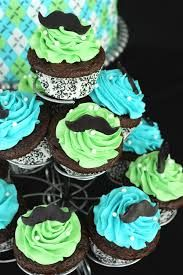Image result for mustache cupcakes for girls