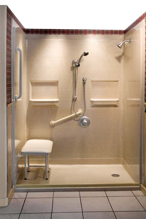 fiberglass shower surround with seat u003eu003e get more great tips for accessible living