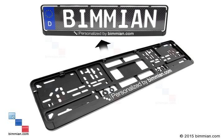 FREE Plate Holder With Every Plate Purchase. Personalized By Bimmian.com -  - Authentic European License Plates  - Photo #5