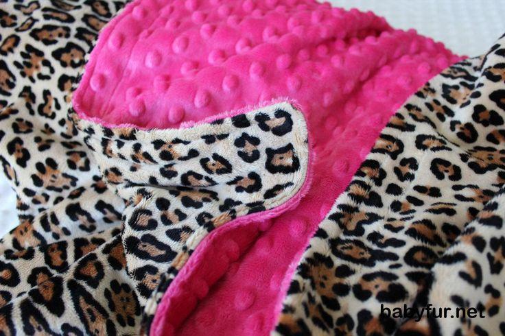 Leopard Print Baby Blanket, Hot Pink Leopard Baby, Cheetah Print Baby Blanket…