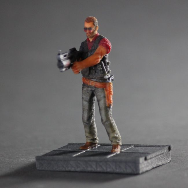 Jackson Stone 3D Print from the Game Primal Carnage