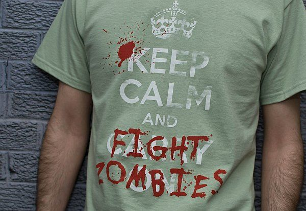 Awesome Tee: Keep Calm and Fight Zombies: Tees Shirts, Zombies Apocalypse, Fight Zombies, T-Shirt, Zombies Humor, Keep Calm, Zombie Apocalypse, Funny Shiot, Awesome Tees