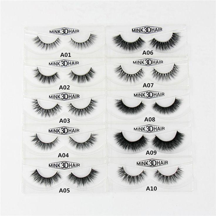 3D Nerz Wimpern Natürliche Erweiterung Lange Quer Dicke Nerz Wimpern Handmade Auge Wimpern A01-A19 (leere box zur verfügung)