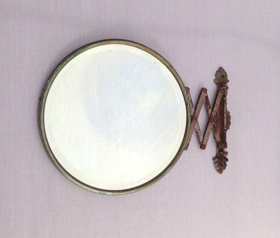 Vintage Extendable Shaving Mirror Extending Arm Mirror Scissor Arm Mirror Accordion Arm Wall Mirror Wall Extension Mirror