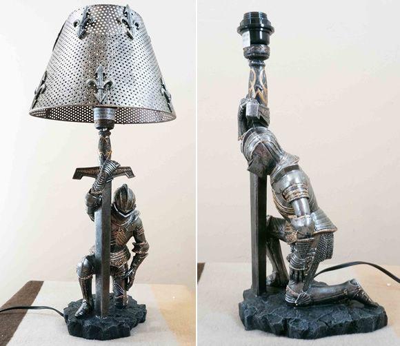 Decoração épica no quarto: Abajur cavaleiro medieval | ROCK'N TECH