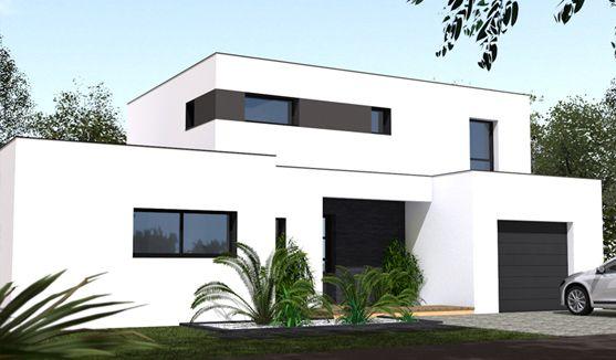 """Résultat de recherche d'images pour """"maison toit terrasse avec étage"""""""