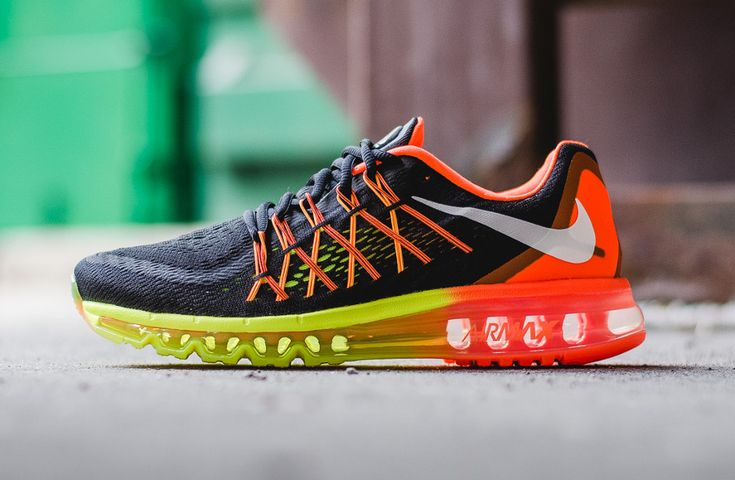 Nike Air Max 2015 Black White Hyper Crimson Volt