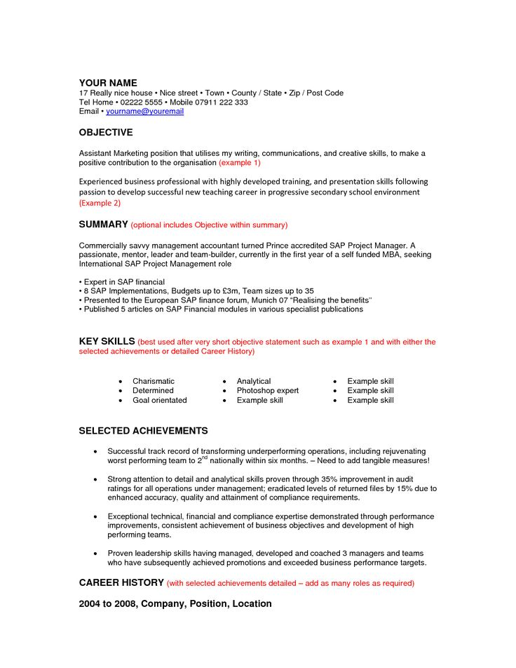 Best 25+ Career objectives for resume ideas on Pinterest Good - resume for mba application