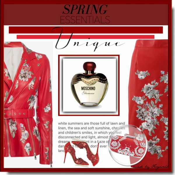 A beauty collage from March 2017 by forgoszel featuring beauty, Moschino, Oscar de la Renta and Alexander McQueen #springperfume #contestentry #contest #polyvorecontest #beautiful #Spring #spring2017 #springfashion #beautytrend #fashioninspiration #fashion