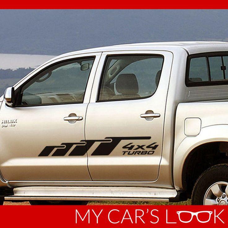 Toyota HILUX side decal stripe model 2 #Toyota #toyota #hilux #stripes #sidedecals #sidestriepes #hiluxdecals #4x4 #turbo #turbodecal