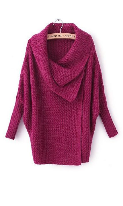 Berry cowl sweater