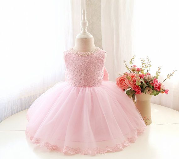 Designed Baby Pink Sleeveless Toddler Pageant Dress by PLdress