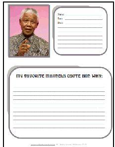 Free Nelson Mandela Worksheets #Quote #Education #Homeschool #Mandela #Freebies #Worksheets #SouthAfrica