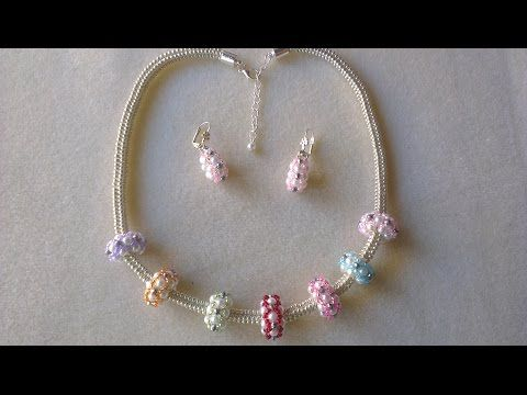 COLLAR Y PENDIENTES ESTILO PANDORA - YouTube