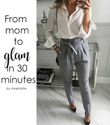 From mom to glam in 30 minutes!
