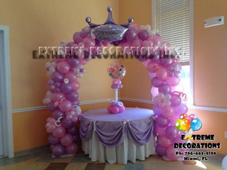 Princess party balloon decorations princess crown fairy for Princess dekoration