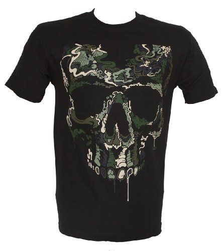 Design Shirts Men's Special Ops Camo Skull T-Shirt