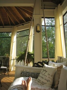 Screened Porch Sanctuary - eclectic - porch - chicago - Your Favorite Room By Cathy Zaeske