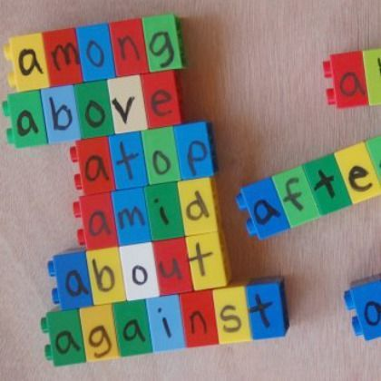Lego blocks spelling game. We think this is ingenious! #StayCurious