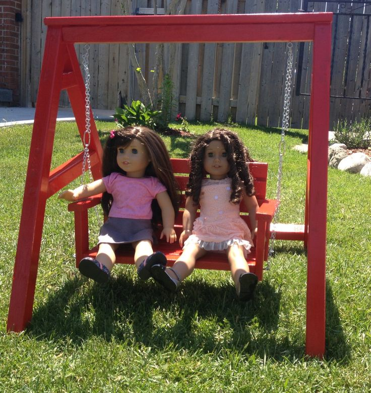 Fun Swing Set For American Girl Doll Maplelea Girl Doll