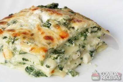 Receita de Lasanha de espinafre em receitas de massas, veja essa e outras receitas aqui!