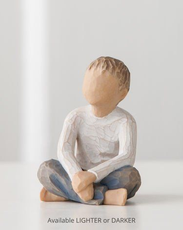 Imaginative Child (lighter skin tone and hair colour) - Willow Tree Figurine - The Shabby Shed  Sentiment: ...nurtured by your loving care