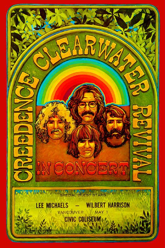 Civic Coliseum, Vancouver Canada Concert Poster / May 1, 1970