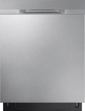 """Samsung - StormWash™ 24"""" Top Control Built-In Dishwasher - Stainless steel - Front_Standard"""