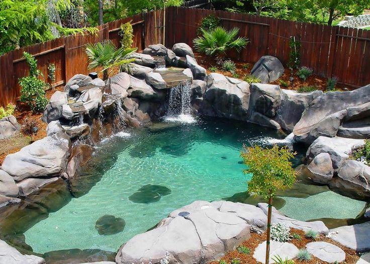 1517 best images about refreshing retreats on pinterest for Small swimming pools for small backyards
