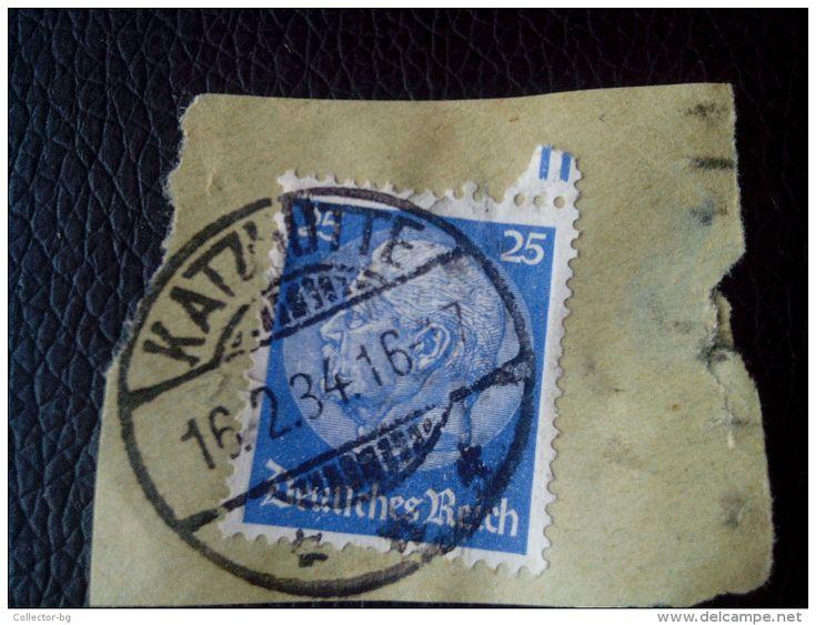 RARE 25 PF DEUTSCHEN REICH Reichspresidents  Paul Von Hindenburg German Stamp 1934 ON PAPER COVER USED - Germany