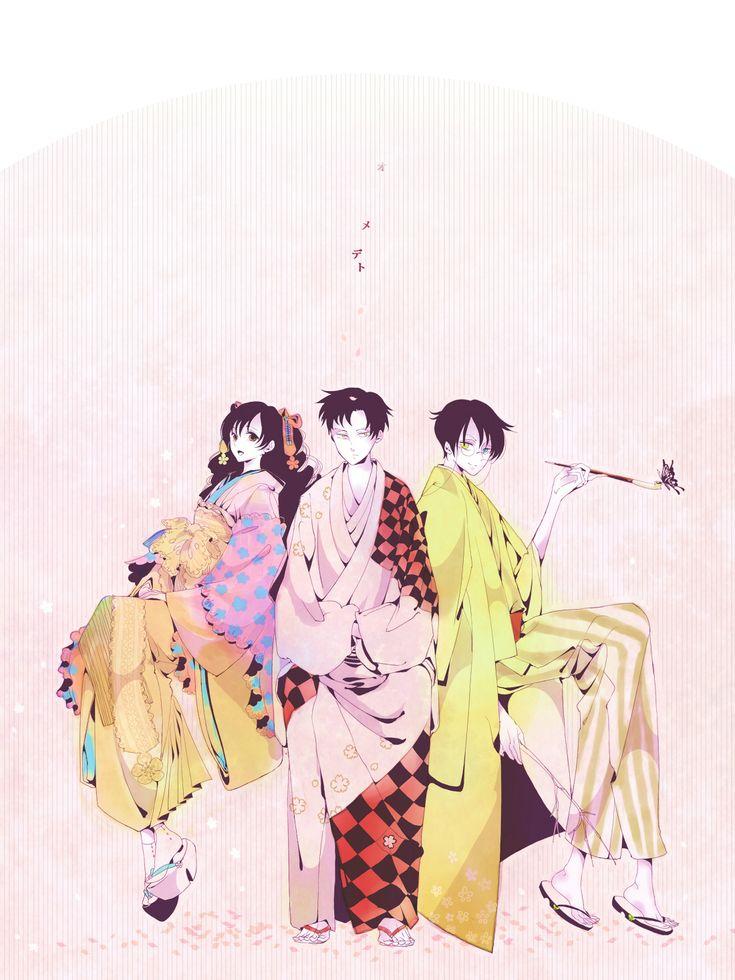 Molatoliamu, xxxHOLiC, Doumeki Shizuka, Watanuki Kimihiro, Kunogi Himawari, Smoking Pipe