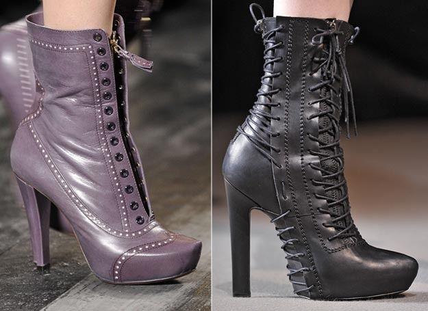sznurowane botki - buty na jesień
