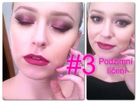Podzimní líčení #3: tmavě růžové/brusinkové kouřové líčení - YouTube
