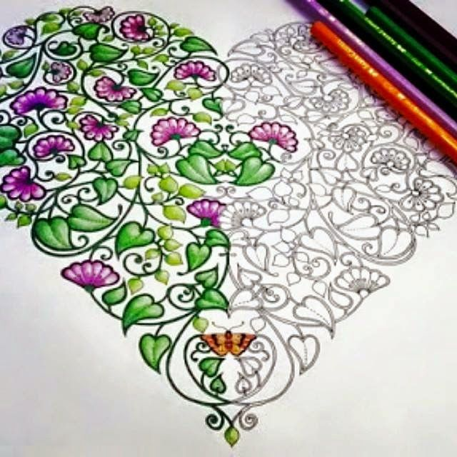 I Love Seeing One Part Done And The Raw Potential Of Rest Find This Pin More On Secret Garden Coloring Book