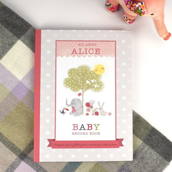 Personalised Girl's Baby Record Book | GettingPersonal.co.uk