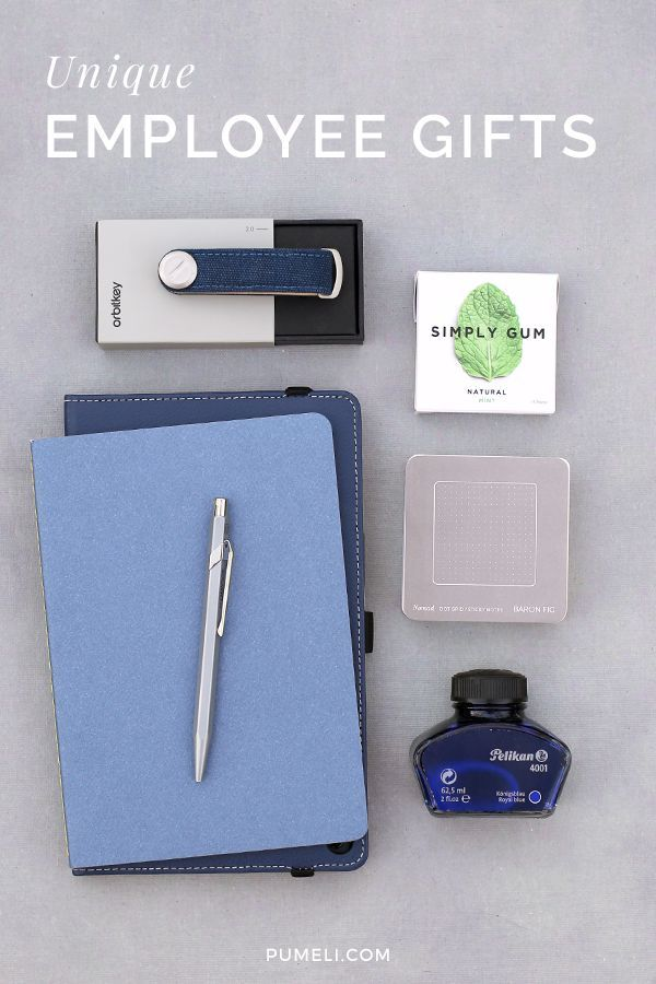 Unique employee gifts they'll really love and want to use. Employee Gifts | #employeappreciation #onboarding #employeegifts #giftsforhim #pumeli