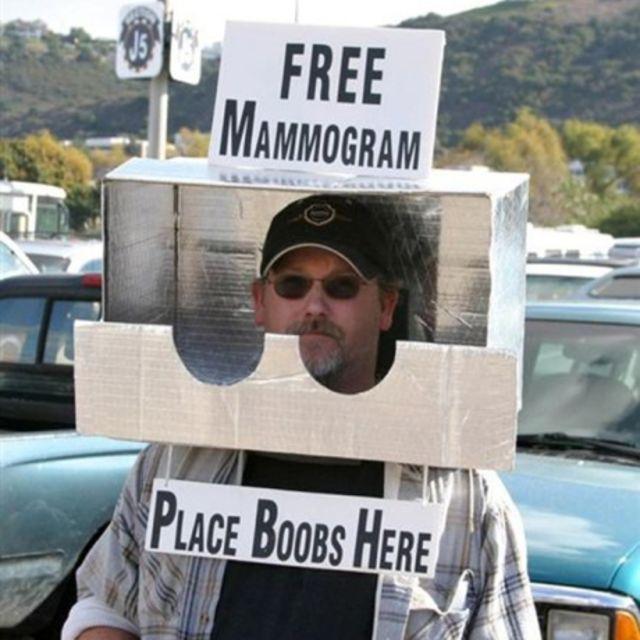 La máquina de mamografías... no engañas a NADIE, amigo.